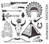 american indian hunter...   Shutterstock .eps vector #532527334