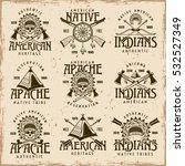 native american indians  apache ... | Shutterstock .eps vector #532527349