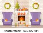 vector interior decorated for... | Shutterstock .eps vector #532527784