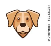labrador retriever dog head... | Shutterstock .eps vector #532531384