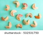 fortune cookies  on color... | Shutterstock . vector #532531750