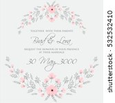 elegance wedding invitation... | Shutterstock .eps vector #532532410