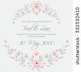 elegance wedding invitation... | Shutterstock .eps vector #532532410