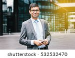 smiling indian business man... | Shutterstock . vector #532532470