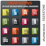 buildings icons set in flat... | Shutterstock .eps vector #532537240