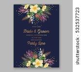 wedding invitation floral... | Shutterstock .eps vector #532537723