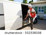 young electrician artisan... | Shutterstock . vector #532538338