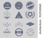 set of hipster vapor coil... | Shutterstock .eps vector #532540060