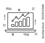 seo graph vector icon | Shutterstock .eps vector #532541068