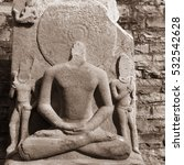 Small photo of Ancient Destroyed buddha stature in india