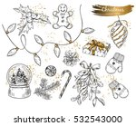 christmas isolated objects set. ... | Shutterstock .eps vector #532543000