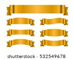 ribbon gold banners set. sign... | Shutterstock . vector #532549678