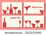 happy hour business card... | Shutterstock .eps vector #532551940