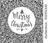 christmas ball with merry... | Shutterstock .eps vector #532552330