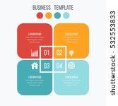 infographics template four... | Shutterstock .eps vector #532553833
