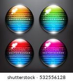 abstract vector banner set of 4....   Shutterstock .eps vector #532556128