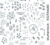 modern vector seamless pattern... | Shutterstock .eps vector #532556680