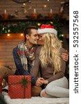 loving spouses embracing... | Shutterstock . vector #532557568