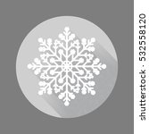 snowflake artistic sign icon....