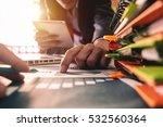 business team meeting present...   Shutterstock . vector #532560364