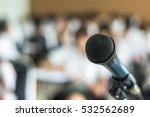 microphone speaker in seminar... | Shutterstock . vector #532562689