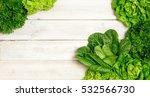 top view of fresh lettuce on... | Shutterstock . vector #532566730