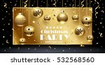 christmas party design template.... | Shutterstock .eps vector #532568560