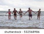 beach friendship freedom summer ... | Shutterstock . vector #532568986