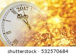 2017 new year clock counting... | Shutterstock . vector #532570684