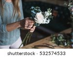 florist at work  pretty young... | Shutterstock . vector #532574533
