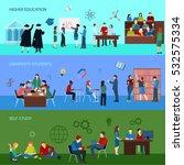 university horizontal banners... | Shutterstock .eps vector #532575334