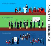 conference horizontal banners... | Shutterstock .eps vector #532575340