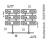 server vector icon | Shutterstock .eps vector #532576054