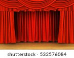 red curtains and wooden stage...   Shutterstock . vector #532576084