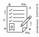 checklist vector icon   Shutterstock .eps vector #532576174