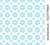 simple blue snowflake background | Shutterstock .eps vector #532579864