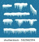 set of cartoon snow design... | Shutterstock .eps vector #532582594