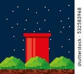 Game Scene Pixelated Backgroun...