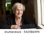 an elderly woman. portrait. | Shutterstock . vector #532586494