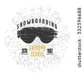 vector ski mask logo. winter... | Shutterstock .eps vector #532596688