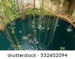 Ik Kil Cenote Near Chichen Itz...