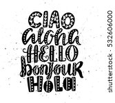 hello in different languages.... | Shutterstock .eps vector #532606000