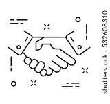 partnership vector icon | Shutterstock .eps vector #532608310