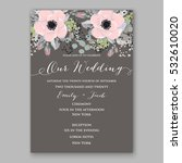 wedding invitation floral... | Shutterstock .eps vector #532610020