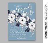 wedding invitation floral... | Shutterstock .eps vector #532610314
