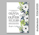 wedding invitation floral... | Shutterstock .eps vector #532610320