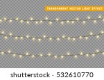 christmas lights isolated... | Shutterstock .eps vector #532610770