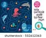 funny maze for children. help... | Shutterstock .eps vector #532612363