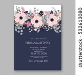wedding invitation floral... | Shutterstock .eps vector #532613080