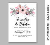 wedding invitation floral... | Shutterstock .eps vector #532613089